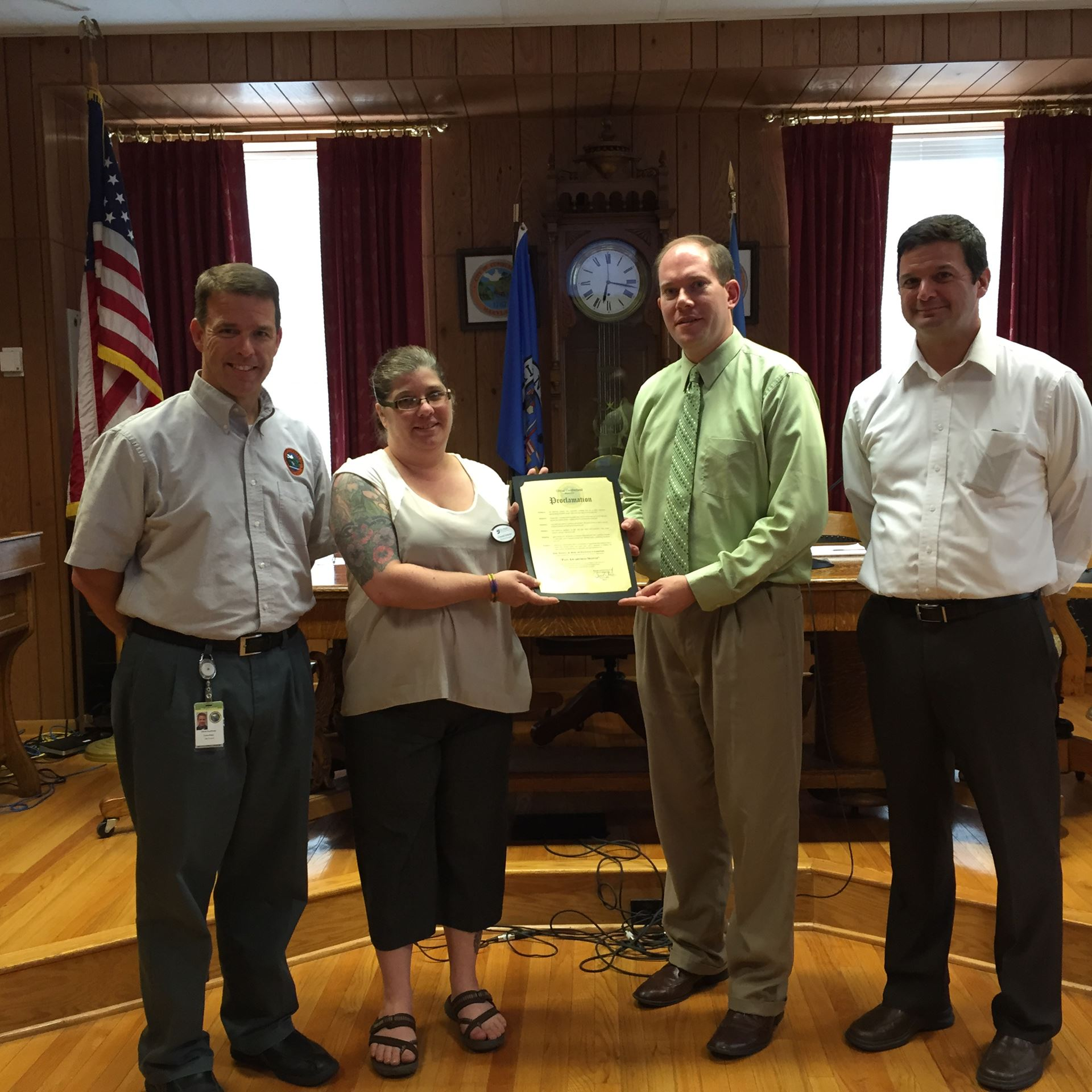 Accepting Proclamation - Sep 2015-Pain Awareness Month