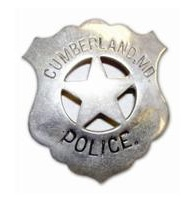 Classic Cumberland, Maryland Police Badge