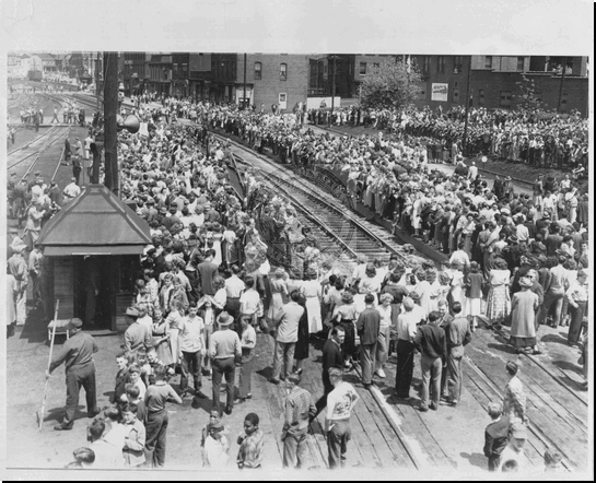 Crowd Waiting for Truman's Campaign Train
