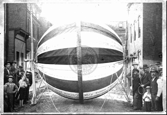 Campaign Ball for Benjamin Harrison