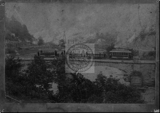 Streetcars on Old Stone Bridge Postcard