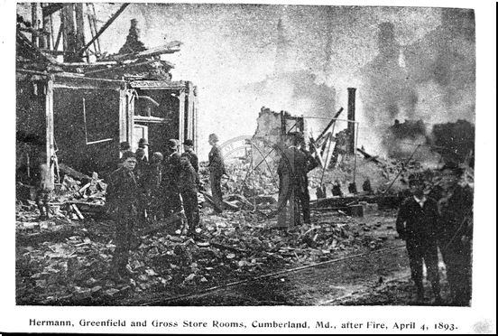 Hermann, Greenfield, and Gross Store Rooms After Fire