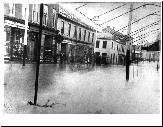 Flood of 1889, Baltimore and Mechanic Street
