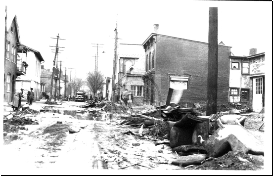 Flood Wreckage on North Mechanic Street