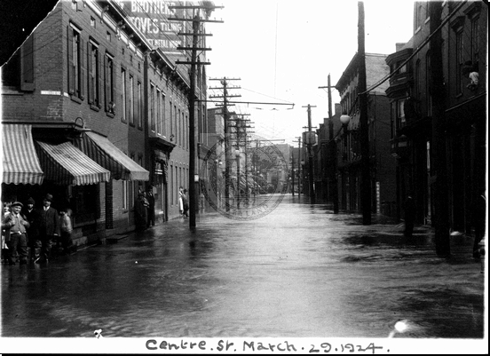 Flood on Centre Street