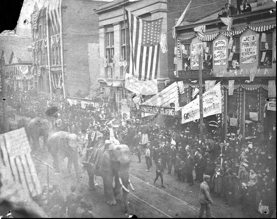 Circus Parade on Baltimore Street